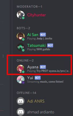 Menambahkan Dan Menggunakan Ayana Bot Discord Cemiti Musik Lagu Youtube