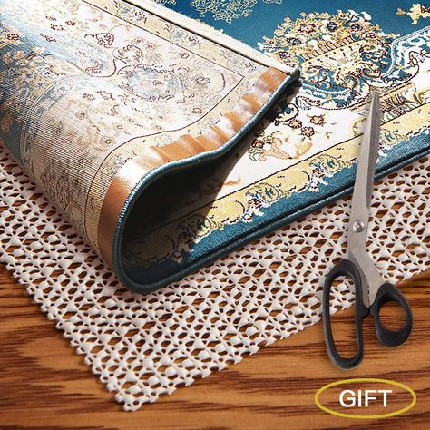 Amzok Area Rug Pad Grippers 2x6 Non Slip Rug Pad 2x6 Rug Pad Under Rug Non Skid Under Cushions Extra Grip For Hardwood Floor R In 2020 Cool Rugs Area Rug