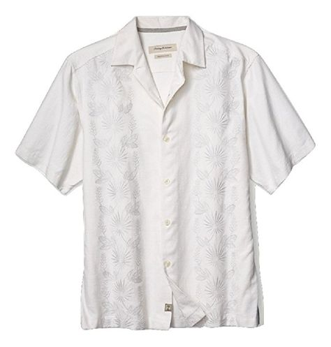 Details about  /$135 NWT Tommy Bahama Mo Rockin Laid S//S Shirt Coconut Cream Size-Medium