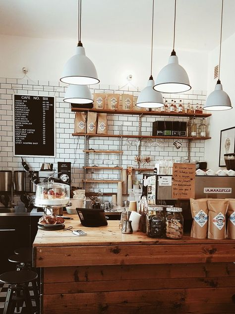 coffee house Coffee shop in Malmo in Sweden Coffee Shop Interior Design, Coffee Shop Design, Restaurant Interior Design, Design Shop, Coffee Cafe Interior, Design Design, Coffee House Interiors, Shop Interiors, Coffee House Decor