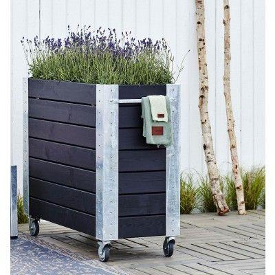 Woodinis Cubic Blumenkasten Hochbeet Big 120x50x95 Mobil Hochbeet Blumen Und Rankgitter