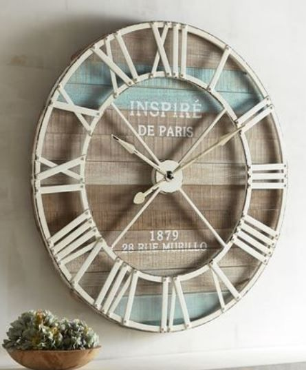 20 Stunning Popsicle Stick Home Decor Ideas Homelysmart Clock Wall Decor Outdoor Clock Clock Decor