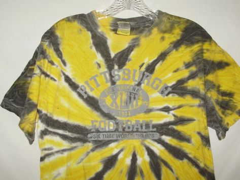Pittsburgh Steelers NFL Mens T-Shirt Size M Tie-Dye Yellow Short Sleeve A68   PittsburghSteelers 914e16f86