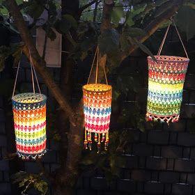 Elealinda Design Diy Tutorial Bunte Laternen Fur Haus Garten Terrasse Anleitung Selbermachen Sommer Diy Laterne