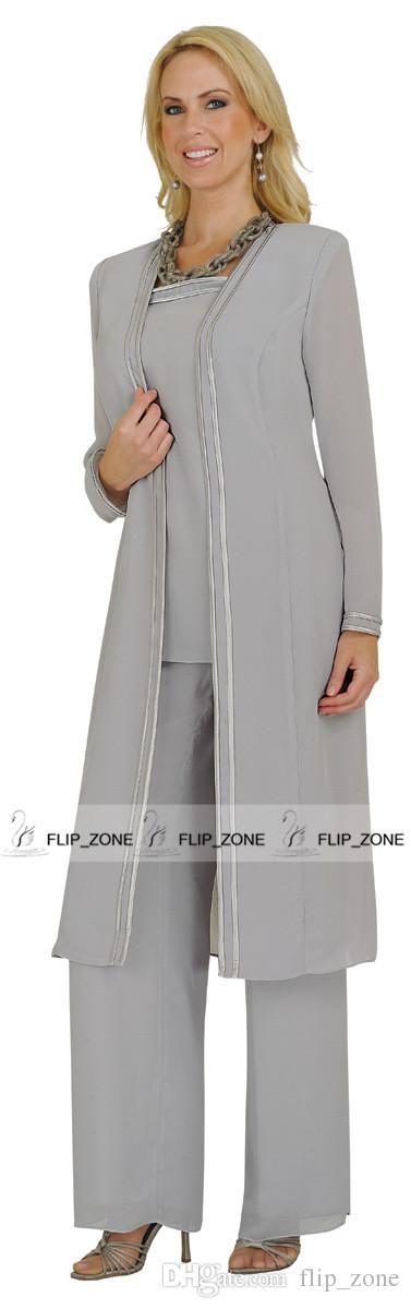 Elegant Chiffon Mother Of Bride Formal Dressy Women Evening Pant ...