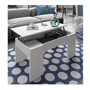 Table Basse Relevable Aura Blanc En 2020 Table Basse Relevable Table Basse Et Table