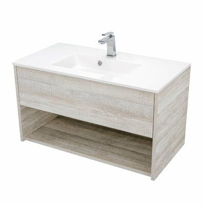 Orren Ellis Mcpeak 36 Wall Mounted Single Bathroom Vanity Set