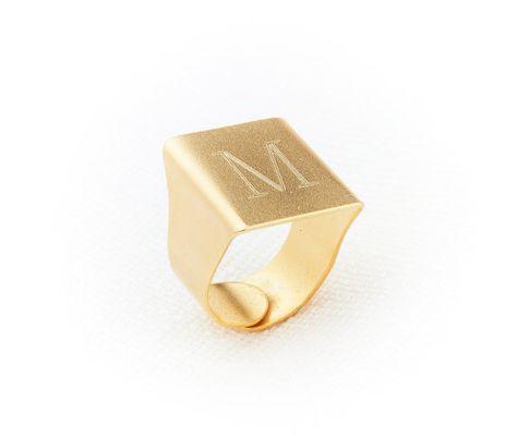1b44e3880b Engraved Letter Ring, Signet Ring, Gold Initial Ring, Mothers Ring, Custom  Rings
