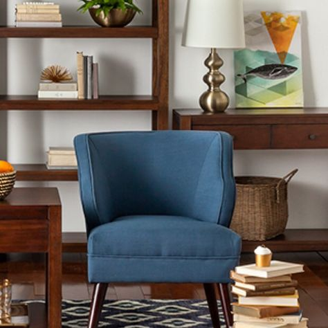 Threshold Mid Century Accent Chair Navy (Target) | Mid