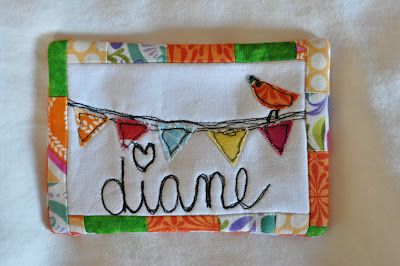 "Cute nametag idea from Katy at Random Thoughts do or ""di"""