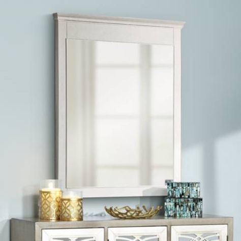 Avanity Windsor White 30 X 36 Rectangular Wall Mirror 2m723 Lamps Plus White Wall Mirrors Wall Mirror Vertical Transitional Wall Mirrors