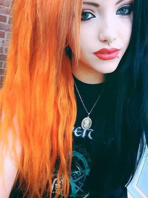 Orange And Black Hair | tumblr in 2019 | Hair color for