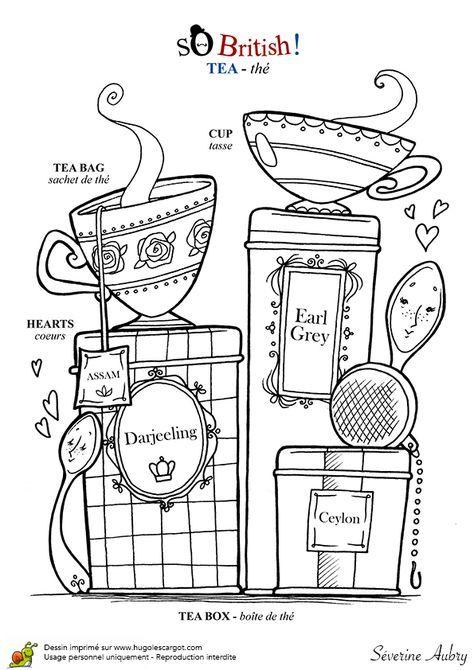 Angleterre Tea Time Angleterre Dessin Et Dessin Animé Anglais