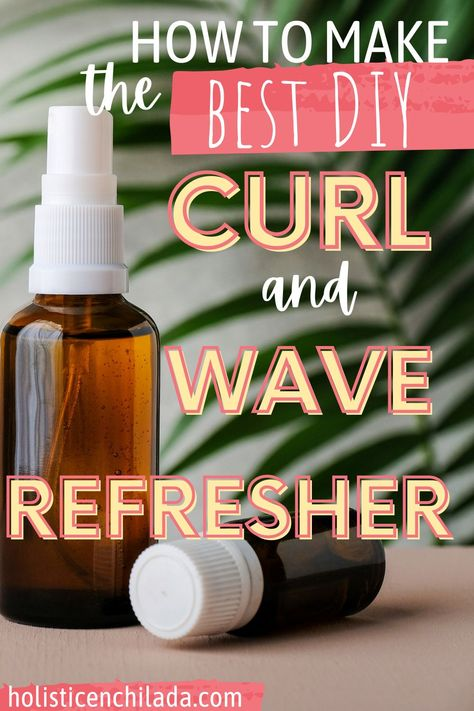 how to make the best DIY curl refresher