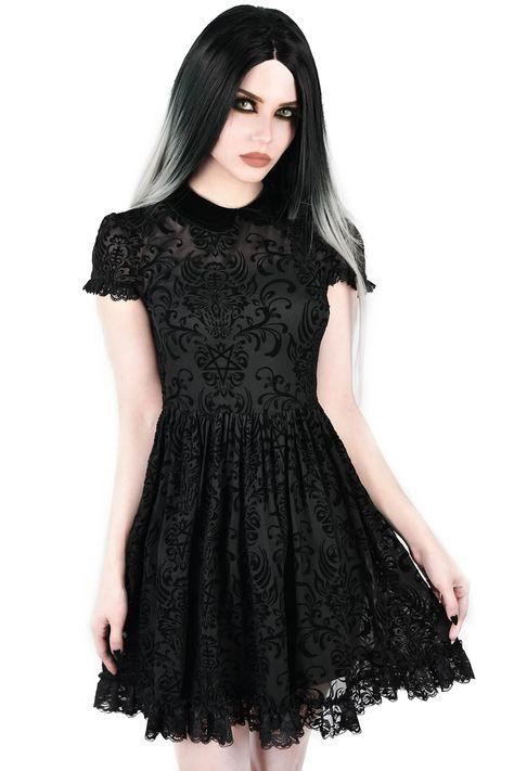 JAWBREAKER OCCULT HOODED DRESS S M L XL BLACK ROCK CHIC METAL PUNK GOTH OCCULT