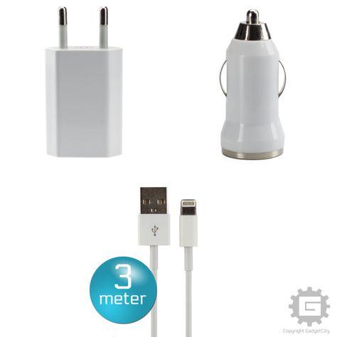 cf3375e6a3c Denne USB, bil-oplader og 3M kabel pakke er det iPad tilbehør / iPhone  tilbehør du har behov for, hvis du er træt af alt for korte ...