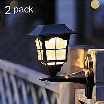 Amazon Com Maggift 6 Lumens Solar Wall Lantern Outdoor Christmas Solar Lights Wall Sconce Solar Out Led Outdoor Lighting Outdoor Solar Lights Outdoor Lanterns