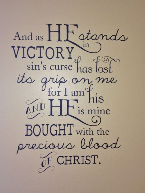 Vinyl Wall Art In Christ Alone Lyrics by delightdesignsvinyl