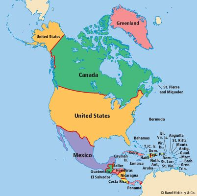 North America Space Pictures Pinterest - North america map countries