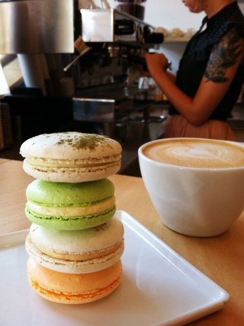 Cecelia's Pastries | Best Macarons in town. Place an order 2 weeks in advance and then buy (collect) from Ann Arbor Farmer's Market on Saturday morning or from Lab Cafe on Sunday. $1.50 per macaron at Farmer's Market, $1.95 at Lab.
