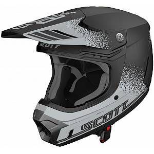 Scott 350 Evo Plus Retro Ece Motocross Helmet Black Grey Xl
