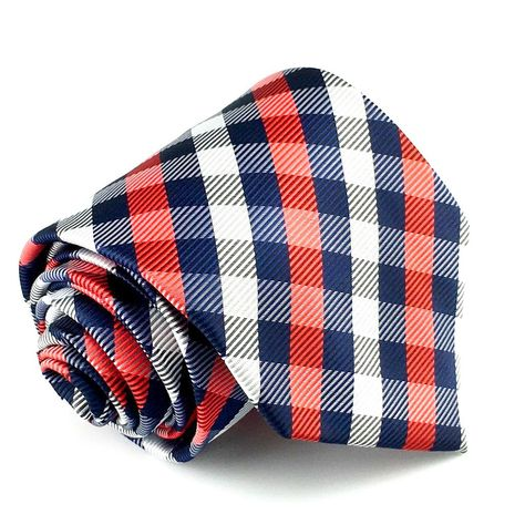 Black and Red Checkered Necktie