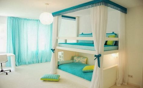 Low Bunk. So nice! Stairs on the one side. Neat idea for a girls room with extra bed for sleepovers :)