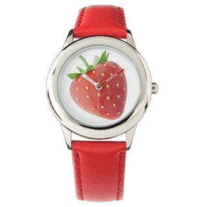 Strawberry Emoji Watch - #emoji #emojis #smiley #smilies