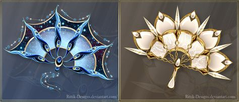 War Fans 5 (OPEN) Offer your price by Rittik-Designs on DeviantArt Ninja Weapons, Anime Weapons, Maquillage Phosphorescent, Weapon Concept Art, Anime Outfits, Character Outfits, Fantasy Art, Anime Art, Jewels