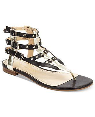 Enzo Angiolini Shoes, Taraketh Flat Gladiator Sandals