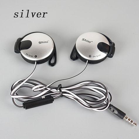 3.5mm Stereo ShiniQ140 Headphone Ear Hook Earphone For Mobile Phone Iphone