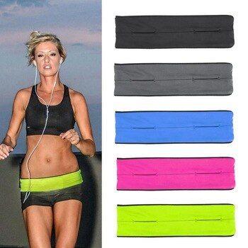 Sports Stretch Waist Bag Unisex Hidden Mobile Phone Anti Theft Jogging Running Fitness Widen Hidden Belt Bag Pack 5 Colors Running Workouts Waist Bag Bagpack