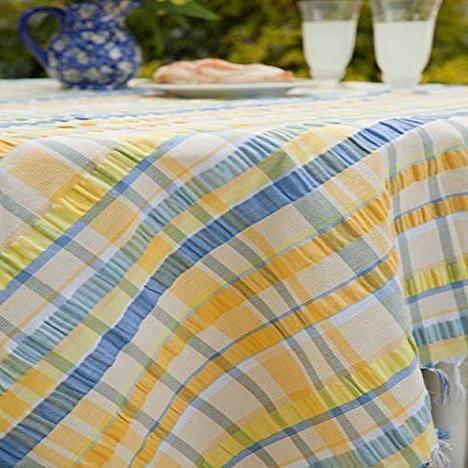 April Cornell April Cornell Provence Seersucker Yellow Blue 60