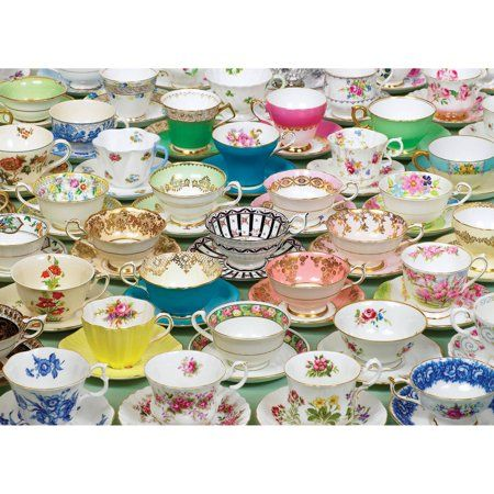 Cobble Hill: Teacups 1000 Piece Jigsaw Puzzle | Stuff I Want