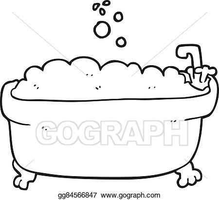 47++ Bathtub clipart black and white information