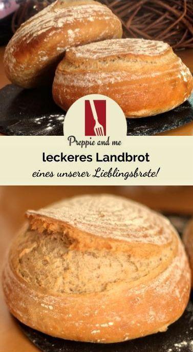 Landbrot Brot Dinkel Dinkelmehl Weizenmehl Backen Mehl Lecker Einfach Schnell Krups Prep Co Brot Backen Lecker Brot Backen Rezept Einfach