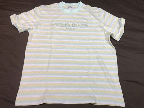 Details about Guess X Asap Rocky Striped Tee Grey