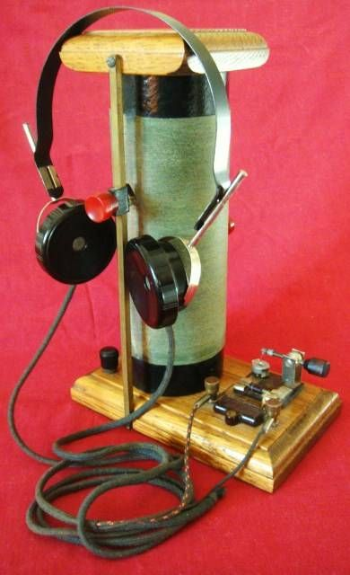 Awesome Vertical slider coil crystal radio with catwhisker detector