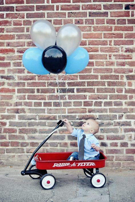 first birthday 1st boy child old sacramento photography portrait balloons