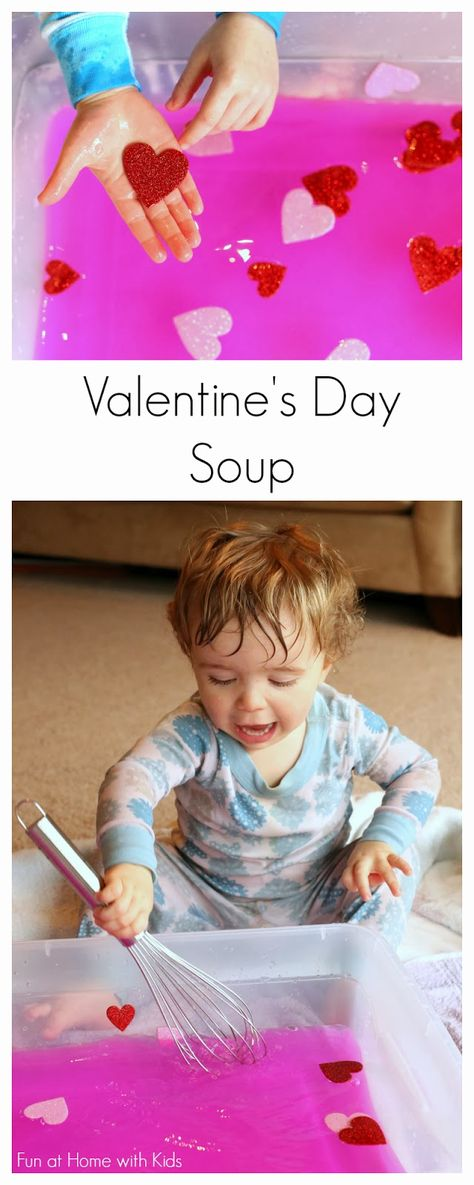 Toddler Sensory Play:  Valentine's Day Soup from Fun at Home with Kids