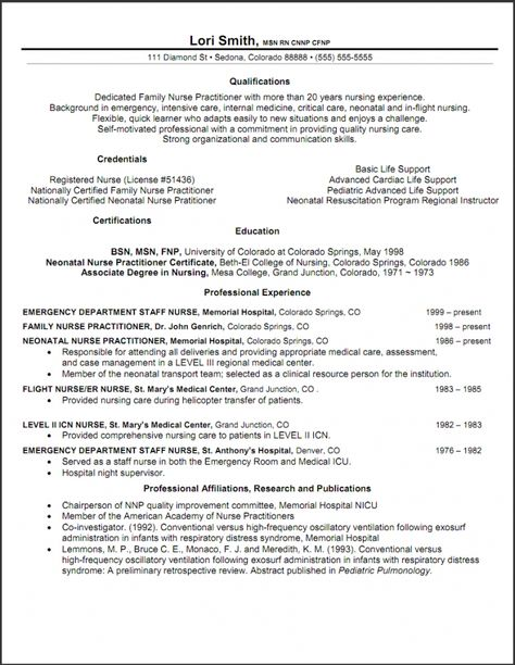 Great Nurse Practitioner Cv Template Collection Nursing Resume