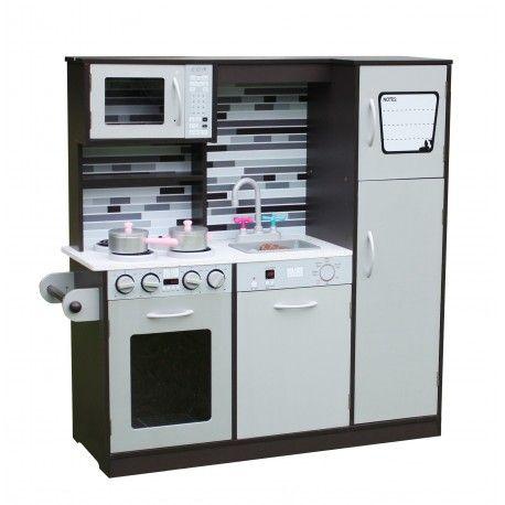 Ogromna Drewniana Kuchnia Paris Grey Piekarnik Zmywarka Nowosc Kitchen Appliances Kitchen Oven