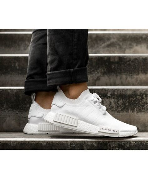 Adidas NMD R1 Primeknit White Trainers Cheap UK | Adidas nmd