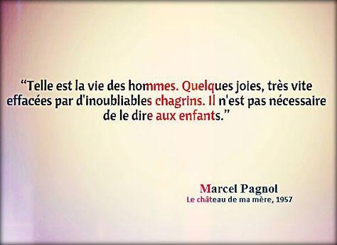 Marcel Pagnol Le Château De Ma Mère 1957 Citation