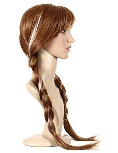 Brown,1-Pack Movie Cosplay Wig Party Wigs Brown Braid Wig Halloween Wig by Anogol Anogol Free Hair Cap