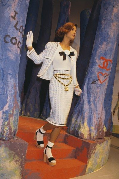 Chanel in the The Best Supermodel Runway Moments, Including Kate Moss, Cindy Crawford, And More Photos