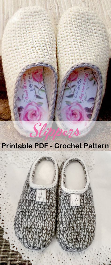 Make a Cozy Pair of SlippersYou can find Crocheted slippers and more on our website.Make a Cozy Pair of Slippers Crochet Slipper Boots, Knitted Slippers, Men's Slippers, Slipper Socks, Crochet Slipper Pattern, Crochet Patterns, Shoe Pattern, Boot Cuffs, Knitting For Beginners