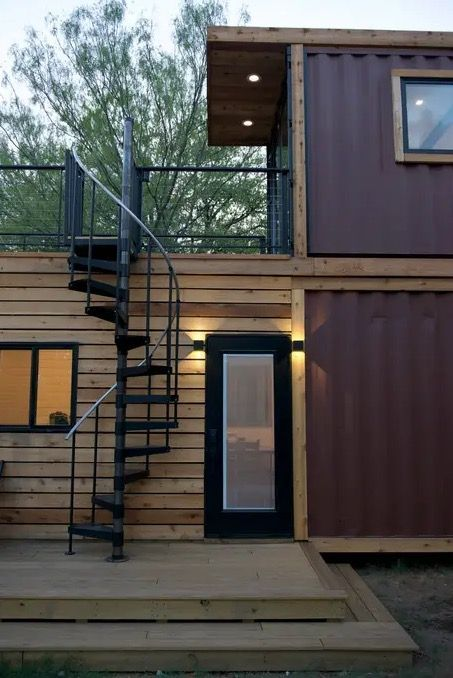 The Helm Shipping Container Cabin By Cargohome Tiny House Vacation Container House Design Container House Interior