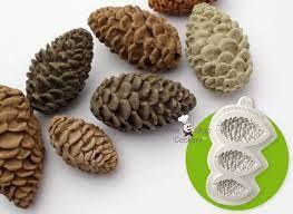 Pine Cones Nuts Sugarcraft Silicone Mold Fondant Cake Baking Decorating Tool UK