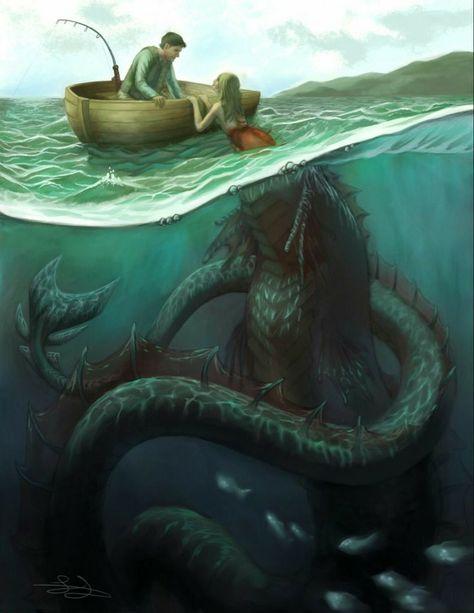 Foto Fantasy, Dark Fantasy Art, Fantasy Artwork, Mythical Creatures Art, Fantasy Creatures, Arte Horror, Horror Art, Scary Ocean, Dark Art Illustrations